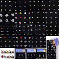 Detalhes sobre o novo atacado Body Jewelry Mix Lots Pierce Nose Studs Piercing + Display 24-40piece