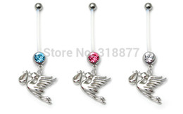 Wholesale Pregnant Belly Rings - Free Shipping 316L Stainless Steel belly ring body piercing jewelry fashion pregnant jewelry
