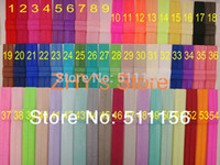 "Wholesale Shimmery Foe - 120pcs lot FOE 60colors Free Epacket CPAP shipping Shimmery Shiny 5 8"" Fold Over Elastic Headband Baby Children Accessories"