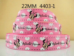 "Wholesale Grosgrain Ribbon Mice - 5Y4403 kerryribbon freeshipping 7 8"" printed Grosgrain ribbon minnie mouse pattern diy headwear Party Decoration mini order $6"