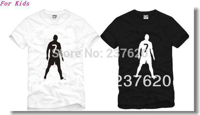 f69a8eb57 2019 Kids T Shirt Soccer Star NO7 Cristiano Ronaldo Printed Tee Shirt 100%  Cotton Size 90 100 110 120 130 140 150cm From Fashionkiss