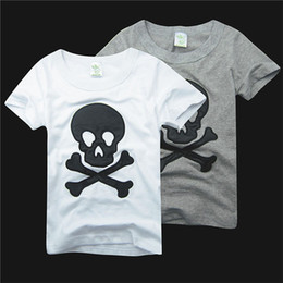 Wholesale Children S Summer Clothes Sale - Hot Sale!5pcs Lot!Children Kids Clothing Tees,100% Cotton Print Skull Baby Boys T Shirts For Summer,Children Outwear For 2-7yrs