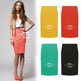 ce526c15f4bfa European High Street femenina delgada lápiz faldas más el tamaño paquete  Hip Casual Office Lady Tight Saias Feminina falda 8026