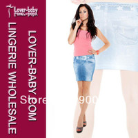 Wholesale Sexy Jeans Skirts - Free Shipping Sexy Fashion Star Imitation Jeans Skirt For Summer Girl