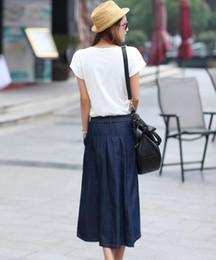 Discount Women Long Jean Skirts | 2017 Women Long Jean Skirts on ...