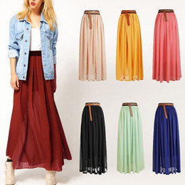 Discount Wholesale Pleated Maxi Skirts | 2017 Wholesale Long ...