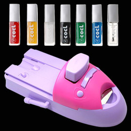 Wholesale nail machine print - Wholesale DIY NAIL ART STAMPING PRINTING MACHINE & Polish Plates 30 pcs dropship by DHL