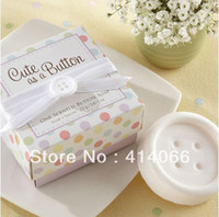 Wholesale Cheap Soap Favors - Wholesale-free shipping 10pcs lot cheap sale 2015 cool novelty items personality wedding favors mini Button model soap Gift box packaging