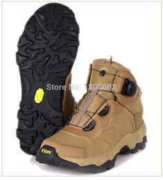 Wholesale Tan Tactical Lights - ESDY Military Outdoor Rapid Reaction BOA lacing system light damping sporting Boots Tactical climbing shoes Tan Hot Sale