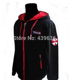 Wholesale Anime Sportswear - Biohazard Umbrella Resident Evil Coat mens hoodies and sweatshirts sportswear tracksuits men boys children cosplay costume