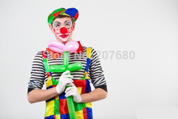 Wholesale Adult Clown Clothes - Cosplay adult party Clown costume including Pants+Clothes+Hat+Gloves+Tie