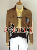 Wholesale Hanji Cosplay - Free Shipping Cosplay Costume Attack on Titan Shingeki no Kyojin Hanji Zoe Survey Crops New in Stock Retail   Wholesale