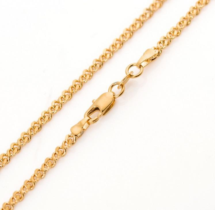 Best New Design Curb Gold Chain Never Fading 18inch 3mm Classic ...