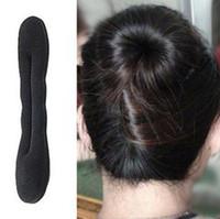 волшебный валик для волос оптовых-Оптовая торговля розничная магия губка волос ролик твист стиль DIY Bun Foundation Styling Maker инструменты аксессуары для волос малый размер