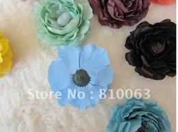 Wholesale Ruffle Ranunculus - 60pcs 2015 Fashion girl's 4inch multilayer 4 inch Ruffle Ranunculus flowers Children's 4' headdress flower baby girls' Hair