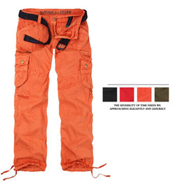 Wholesale Girl Cargo Pants Baggy - Women Clothing Women's Cargo Pants Multi-pockets Girls Harem Hip Hop Dance Pants Casual Baggy Trousers for Camping& Hiking 89075