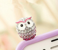 Wholesale Dustproof Plug Owl - Wholesale-min order 15usd Large owls dustproof plug mobile phone dustproof plug animal cartoon