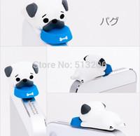 Wholesale Anti Dust Earphone Dog - Wholesale-The Pug Dog Anti Dust Plug 3.5mm Earphone Hole for iPhone 4S 5S Samsung S4 S5 Note 2 3