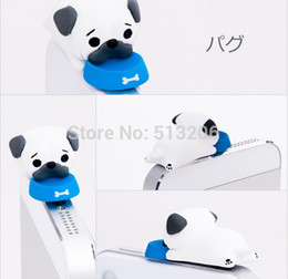 Wholesale Dust Plug Dogs - Wholesale-The Pug Dog Anti Dust Plug 3.5mm Earphone Hole for iPhone 4S 5S Samsung S4 S5 Note 2 3