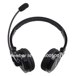 Wholesale Skype Wireless Headsets - Nosie Canceling Bluetooth Headset Wireless Handsfree Headphone for PC PS3 Skype Cellphone for iPhone 4S and other Free shipping