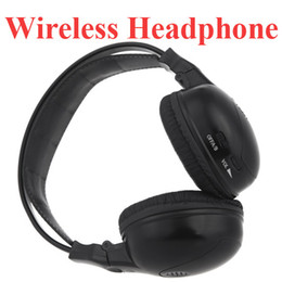 Wholesale Car Headrest Dvd Player Wireless - Infrared Stereo Double-channel Wireless Headphone Headset IR Car Headrest DVD Player