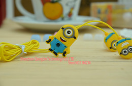 Wholesale Despicable Note - wholesale New 2015 Despicable Me Minions headset Style 3.5 mm headphone Headphones Earphones for iphone Samsung xiaomi note