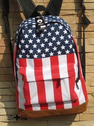 Wholesale Flag Business - Free shippingThe American flag backpack The fashion leisure men and women general student backpack
