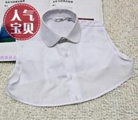 Wholesale Doll Collar False - Hot selling False collar retro black and white collar shirt collar doll small round and sharp neck collar