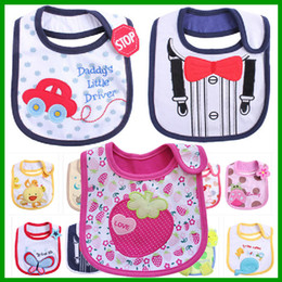 Wholesale Baby Bibs Free Shipping - Top Selling Cotton Baby Bibs Waterproof Baby Bibs Infant Saliva Towels Cartoon Baby Wear With 50 County free shipping WZ13