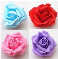 Wholesale Wholesale Floral Foam Balls - 7cm artificial floral eva foam roses head,diy craft arrangements kissing ball&decoration for car&arch&bride hand flower bouquet