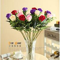 Wholesale Stemmed Roses - Rose silk flower artificial flowers long stem