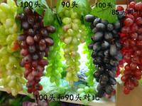 Wholesale Fruits Decorations Kitchen - 34pcs pvc grape grapes home fruit plate kitchen cabinet decoration fruits and vegetables model wholesale & retail