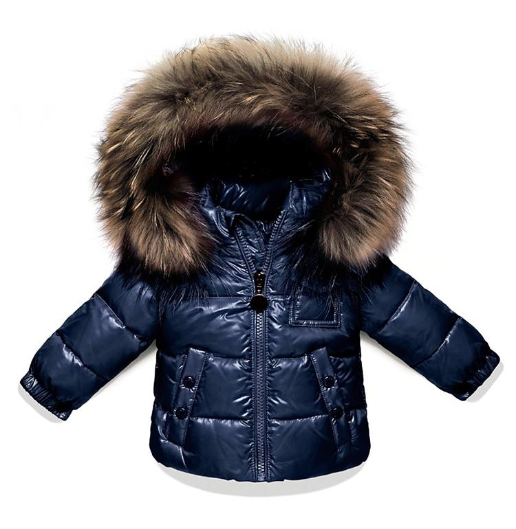 High Quality Kids Girls And Boys Blue Puffer Down Coat With ...