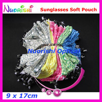 Wholesale Soft Eyeglass Pouches - 50pcs Microfibre Water Drops Design Soft Sunglass Glasses Eyeglass Case Pouch Bag CP025 free shipping