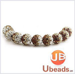 Wholesale Shamballa Gradient Bracelet - Wholesale-(10Pcs=1Lot! ) Free Shipping Disco Ball Pave Crystal Gradient Shamballa Beads 8 Colors In Total for Bracelet Making No.GS1