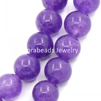 Wholesale-Synthetic Amethyst Edelstein-lose Korne Round Lila 10mm Durchmesser, 39 cm lang, 1 Strang (ca. 39pcs) (B22962)