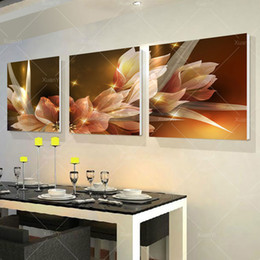 Wholesale Frames For Canvas Prints - 3 Panel Modern Printed Wall Painting Flower Picture Cuadros Canvas Painting Wall Art Home Decor For Living Room No Frame PR216