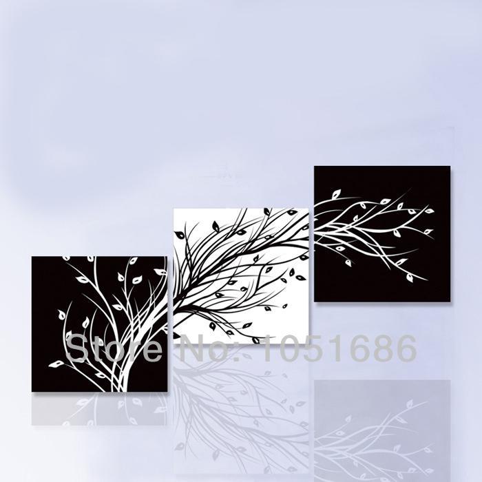 Großhandel Hand Malerei Blume Ölgemälde Moderne Schwarz Weiß ...