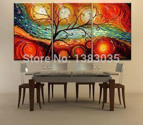 2017 hand painted tree landscape oil paintings on canvas modern