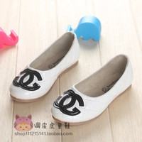 Wholesale White Flat Diamond Shoes - Wholesale-2015spring new style single shoes channel shoes for girls Diamond pattern korea princess flat channel shoes more size available
