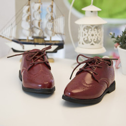 Wholesale 12 Year Old Girls Fashion - Wholesale-2-6 years old Children pu leather shoes fashion retro British style 2015 new fashion boys girls spring casual leather shoes kids
