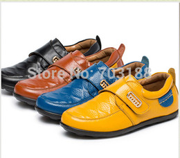 Wholesale Platform School Shoes - Wholesale-Free shipping Fashion children genuine leather shoes with buckle ,boy platform loafers school casual shoes