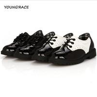 мальчики одеваются для свадьбы оптовых-Wholesale-2015  New Boys Formal Leather Shoes for Weddings England Style Kids Leather Dress Shoes Boys Brogue Wedding Shoes, S002