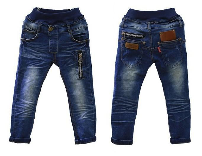 Wholesale-Free shipping Autumn and winter new children's clothing boys wild baby jeans children trousers children jeans zipper