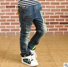 Wholesale Cool Jeans For Kids - Wholesale-casual boys jeans children's clothing full Denim pants Trousers kids clothes cool jeans for boys 2015 new spring winter autumn