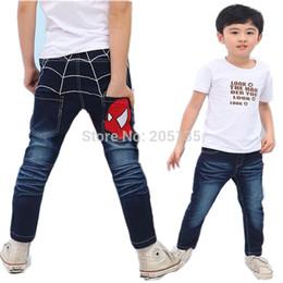 Wholesale Spider Man Jeans - Wholesale-2015 New baby Jeans Kids Spider man boys jeans Spring Autumn Denim jeans toddler kids pants