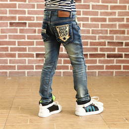 Wholesale Wild Child Clothes - Wholesale- Free Shipping High quality 2015 new Autumn and winter children's clothing boys wild baby jeans children trousers mcl-0221