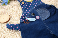 Wholesale Cute Jeans For Boys - Wholesale-2015 New children's cute baby & kids jeans rompers denim overalls jeans for girls and boys free shipping