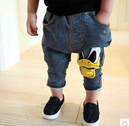 Wholesale Haren Jeans Boy - Wholesale-Wholesale (5pcs lot)-child X-1837 boy's duck pattern Haren jeans