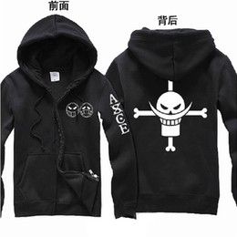 Barato Traje Cosplay-One Piece Edward Newgate Ace Cosplay Hoodie Moletons Unisex Costume